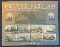 "Féroé 2004 Bloc N°17 (n°483/490) Neufs Croisière Du Bateau ""Mariu"" - Färöer Inseln"
