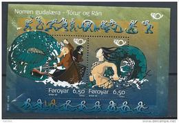 Féroé 2004 Bloc N°16 (n°481/482) Neuf S Norden Mythologie - Färöer Inseln