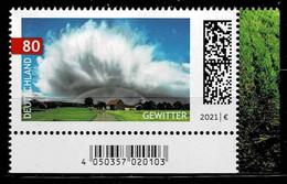 Bund 2021,Michel#  ** Neuausgabe Juni, Gewitter - Unused Stamps