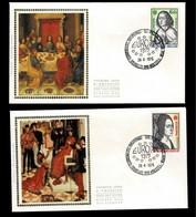 FDC Zijde : Nr 1766/67 :  Stempel: Bruxelles 1040 Brussel - 1971-80