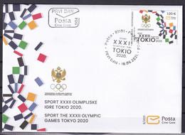 MONTENEGRO 2021,SUMMER OLYMPIC GAMES,TOKYO,SPORT,,FDC - Montenegro