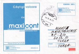A9680- ROMANIAN COMMERCIAL BANK, ECONOMY ACCOUNT, ROMANIA COVER STATIONERY, BRAILA 2004 - Postal Stationery