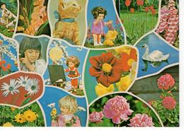 ROMANIA 1975: CHILDREN, FLOWERS, CAT, BIRD, DOLLS Used Prepaid Stationery Card 176/1975 - Registered Shipping! - Postal Stationery