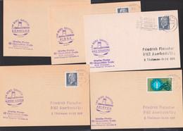 Weiße Flotte Dresden Bordstempel Der Dampfer Schmilka, Kurort Rathen, Pirna, Bad Schandau, Krippen Je Auf Karte - Poststempel - Freistempel