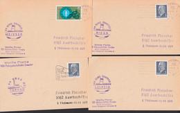 Weiße Flotte Dresden Bordstempel Der Dampfer Torgau, Riea, Leipzig, Meissen  Je Auf Karte - Poststempel - Freistempel