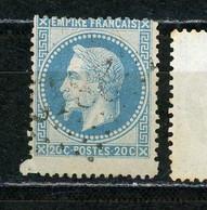 FRANCE -  TYPE NAPOLEON 20 Ct BLEU - N° Yvert 29A Obli. PLUS GRAND D'UNE DENT - 1863-1870 Napoleone III Con Gli Allori