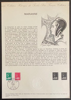 ⭐ France - Document Philatélique - Premier Jour - Thématique Marianne - 1974  ⭐ - 1970-1979