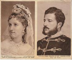 Famille Royale Belge - S.A.R. La Princesse Louise Duchesse De Saxe  Et S.A.R. Le Prince Philippe De Saxe -Cobourg-Gotha - Royal Families