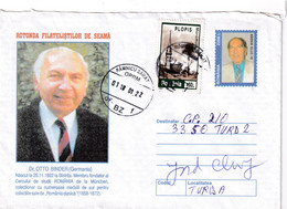 """A9692- DR.OTTO BINDER, FAMOUS COLLECTOR WITH GOLD MEDALS """" CLASSICAL ROMANIA"""", USED STAMP ROMANIA COVER STATIONERY - Postal Stationery"""