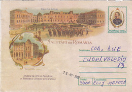 A9693- ROYAL PALACE, CENTRAL LIBRARY AND ART MUSEUM 2000 ROMANIA COVER STATIONERY - Postal Stationery