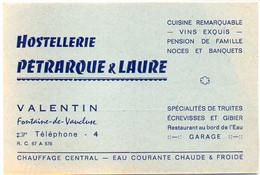"""Hostellerie """"Pétrarque & Laure"""" Valentin - FONTAINE DE VAUCLUSE  (121877) - Publicité"""