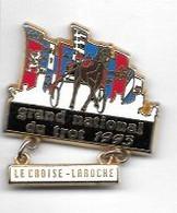Pin's  Ville, Jeux, Course  Hippique  GRAND  NATIONAL  DU  TROT  1993  à  LE  CROISE - LAROCHE  ( 59 ) - Jeux