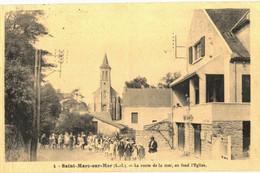 CPA N°59 - SAINT-MARC-SUR-MER - LA ROUTE DE LA MER AU FOND L' EGLISE - Other Municipalities