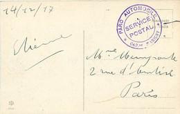 Cachet PARC AUTOMOBILE Service Postal Capitaine MARIGNY 1917 Sur Cpa Italie VERONA Palazzo Della Gran Guardia - Guerre De 1914-18