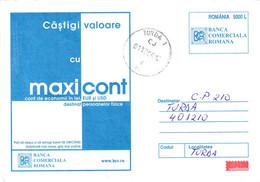 A9701- COMMERCIAL BANK OF ROMANIA, MAXICONT-ECONOMY ACCOUNT, TURDA 2004 ROMANIA COVER STATIONERY - Postal Stationery