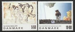 DANEMARK - N°1351/2 ** (2003) Tableaux - Neufs