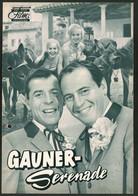 Filmprogramm DNF, Gauner-Serenade, Fred Bertelmann, Chris Howland, Regie: Thomas Engel - Revistas
