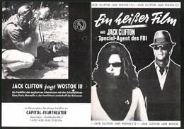 Filmprogramm Unbekannt, Jack Clifton Jagt Wostock III, Ken Clark, Jany Clair, Regie: Maurice Cloche - Revistas