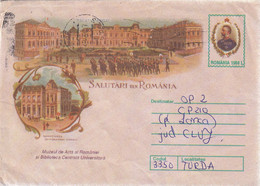 A9714- MUSEUM OF ARTS AND CENTRAL UNIVERSITY LIBRARY ROMANIA COVER STATIONERY - Postal Stationery