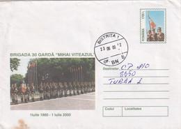 A9717- BRIGADE 30 GUARD MIHAI VITEAZUL 1860-2000, BISTRITA 2000  ROMANIA COVER STATIONERY - Postal Stationery