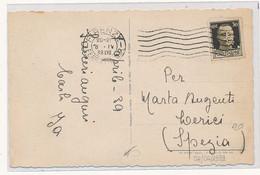 1939  PERFIN ANONIMA COBIANCHI FIRENZE IN USO IMPROPRIO PRIVATO SU CARTOLINA  BUONA PASQUA - Storia Postale