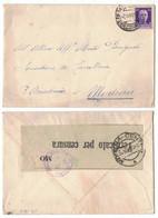 NB49 Regno 1941 - Busta Da Milano Per Modena, Timbri E Fascetta Verificato Per Censura - Marcophilia