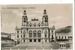 MONACO - Façade Du Théâtre - 1922 - Opera House & Theather