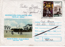 "A9719-UNIVERSITY ""NICOLAE IORGA"", BOYS SCHOOL AND PISAU HOUSE,VALENII DE MUNTE 1913, COVER STATIONERY ROMANIA,USED STAMP - Postal Stationery"