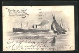 Künstler-AK Henri Cassiers: Passagierschiff Der Red Star Line - Paquebote