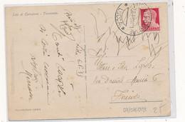 1933 PERFIN IN USO IMPROPRIO LIDO DI CAMAIORE AC ANGELO COBIANCHI SU CARTOLINA ILLUSTRATA - Storia Postale