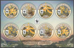 NW0582 2016 TOGO WWF LEOPARD ORCHIDS FLOWERS #7699-7702 KB(2SET) MNH - Nuovi