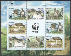NW0567 2013 GUINEE GUINEA WWF BIRDS OF PREY FAUNA #9865-9868 KB(2SET) MNH - Unused Stamps