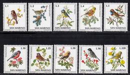 Saint-Marin 1972 Yvert 810 / 819 ** TB Bord De Feuille - Unused Stamps