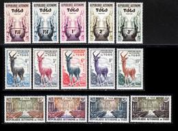 Togo 1957 Yvert 261 / 274 ** TB Bord De Feuille - Unused Stamps