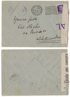 NB50 Regno 1941 - Busta Da Roma Per Alessandria, Timbri E Fascetta Verificato Per Censura - Marcophilia