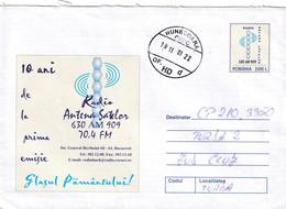 A9726-RADIO STATION   VILLAGES ANTENNA, ROMANIAN RADIO STATION, HUNEDOARA 2001 ROMANIA COVER STATIONERY - Postal Stationery