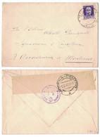 NB51 Regno 1942 - Busta Da Milano Per Modena, Timbri E Fascetta Verificato Per Censura - Marcophilia