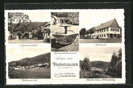 AK Frohnhausen / Dillkreis, Lindenallee, Rathaus & Brunnen, Teil- Und Gesamtansicht - Unclassified