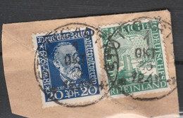 DEUTSCHES REICH 1925 STUTTGART 1 Postmark Stempel Pmk Cancel In Pair, Germany Germania Allemania F RHEINLAND VON STEPHAN - Gebruikt