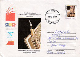A9737- INTERNATIONAL TRADE CENTER GAUDEAMUS, ROMEXPO 1999, AIUD 2000 ROMANIA COVER STATIONERY - Postal Stationery