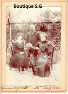 Photo Personne Homme Femme Groupe Jardin Exterieur Germaine Anglade Famille 18.5x13.5cm - Personas Identificadas