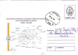 A9738- TRANSYLVIAN ASSOCIATION FOR ROMANIAN LITERATURE AND CULTURE-ASTRA, PITESTI 2002 ROMANIA COVER STATIONERY - Postal Stationery