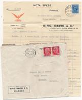 1935 PERFIN RARO FIRENZE KING DAVID - Storia Postale