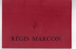 MENU REGIS MARCON à SAINT BONNET LE FROID - Menus