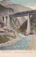 1755/ Gotthardbahn, Kerstelenbach-Viaduct Bei Amsteg, Trein - UR Uri