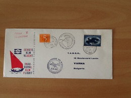 Eerste KLM Vlucht Amsterdam-Varna-Amsterdam 5 Juni 1964. Retour àl'expediteur. - Airmail