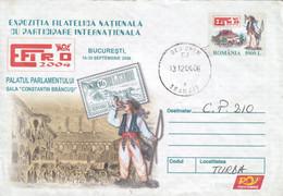 A9742- PARLIAMENT PALACE, CONSTANTIN BRANCUSI HALL, BUCHAREST 2004 ROMANIA COVER STATIONERY - Postal Stationery