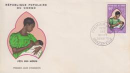 Enveloppe  FDC  1er  Jour   CONGO    Fête  Des  Méres   1970 - Giorno Della Mamma