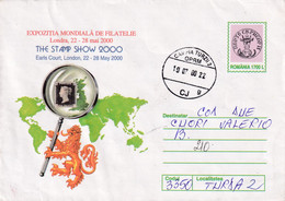 A9748- THE STAMP SHOW 2000 EARLS COURT LONDON UK, CAMPIA TURZII 2000 ROMANIA COVER STATIONERY - Postal Stationery