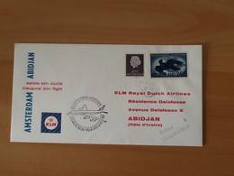 Eerste KLM Vlucht Amsterdam-Abidjan 2-11-'63. - Airmail